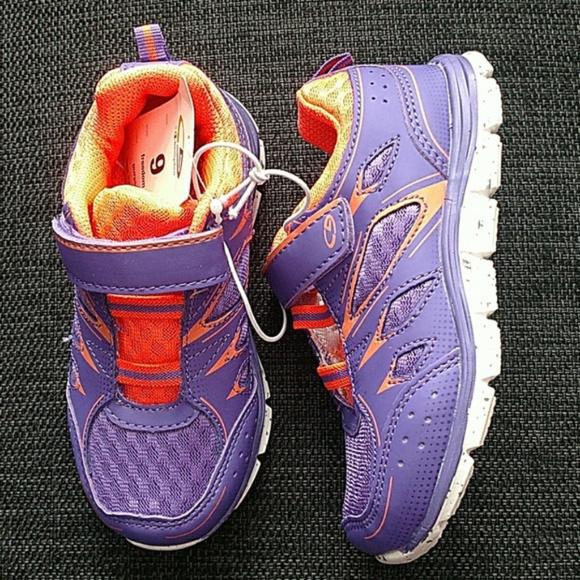 ab4c1034f Girl s Purple and Orange Athletic Shoe
